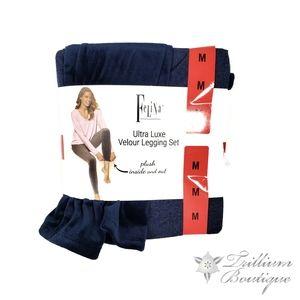 Felina Ultra Luxe Velour Legging Lounge Set NWT!